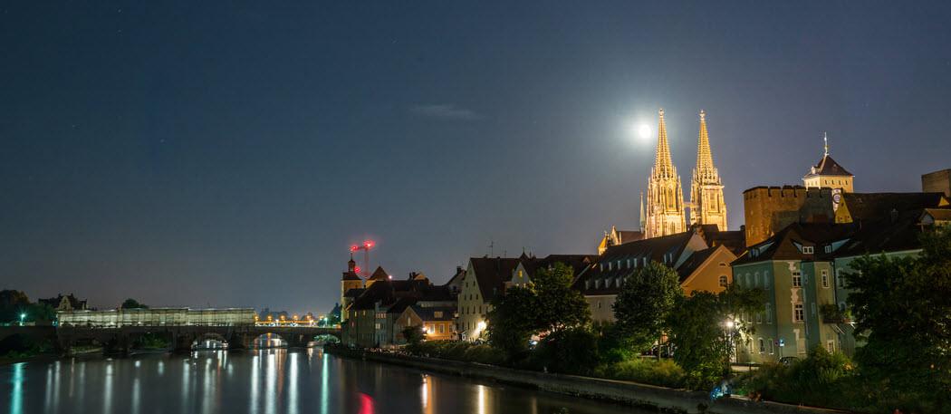 Skyline Regensburg by night